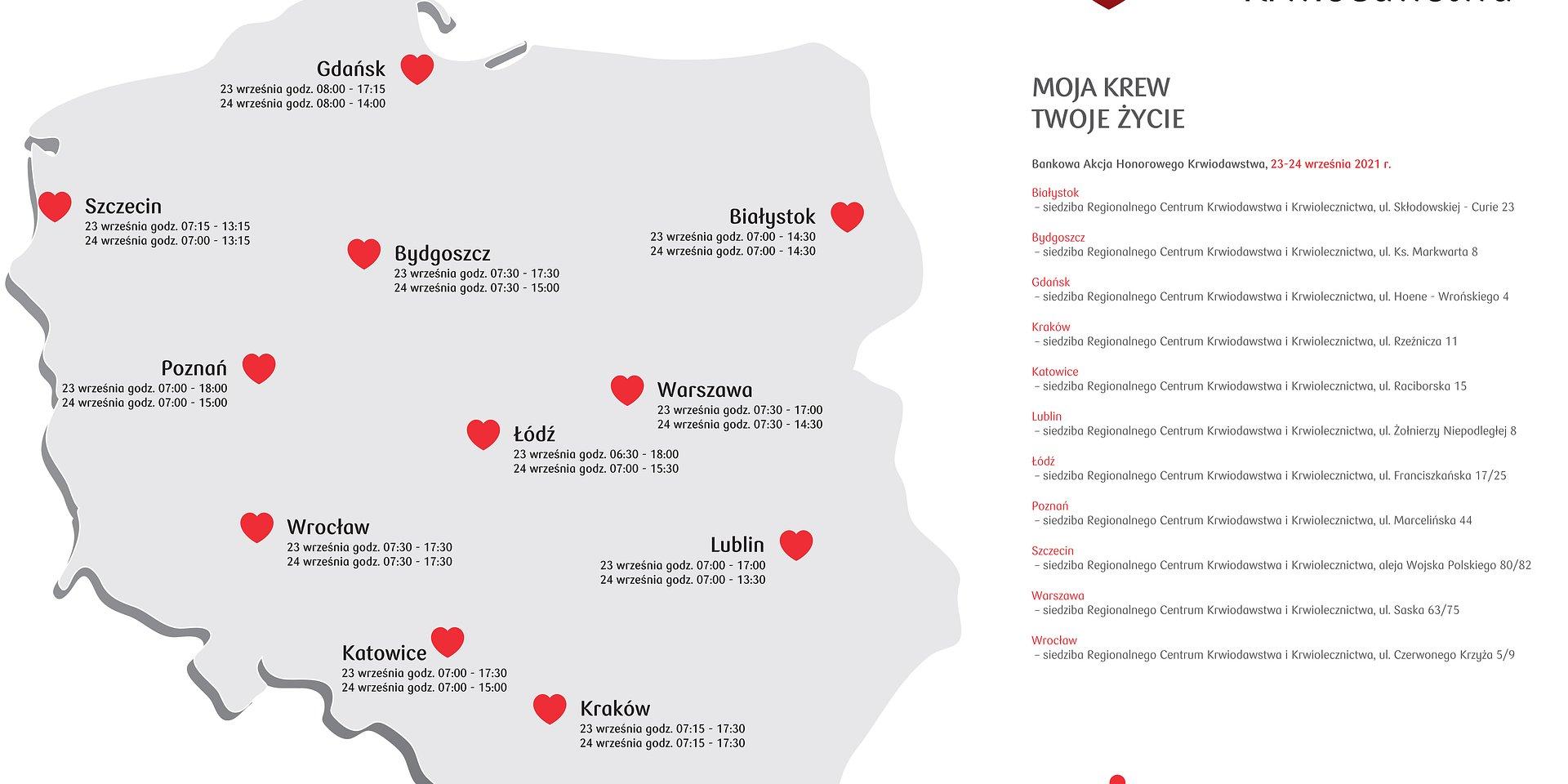 Jesienna Bankowa Akcja Honorowego Krwiodawstwa w Krakowie – 23 i 24 września.