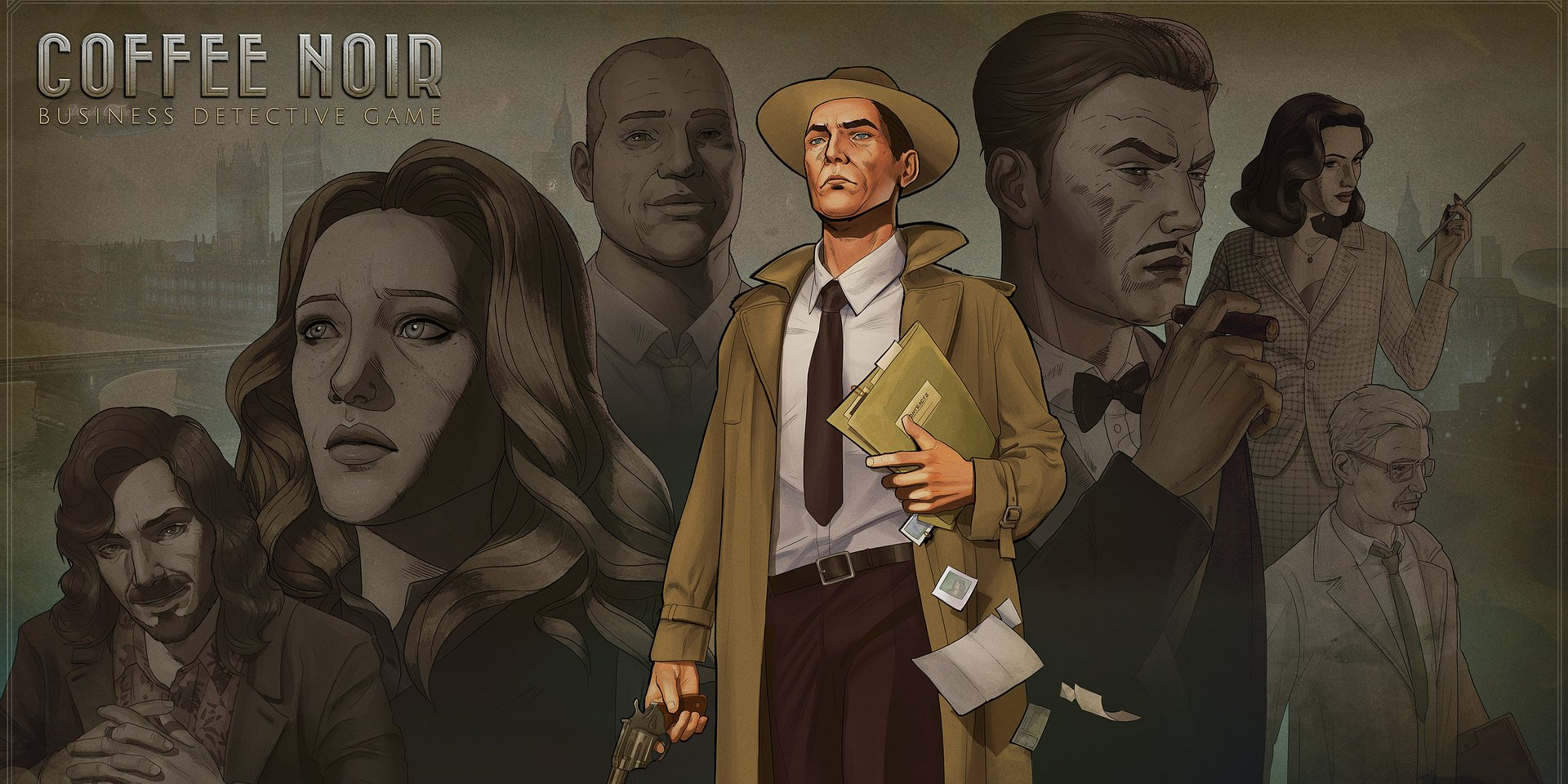 Start your investigation with a coffee business on the side. Coffee Noir releases this month!