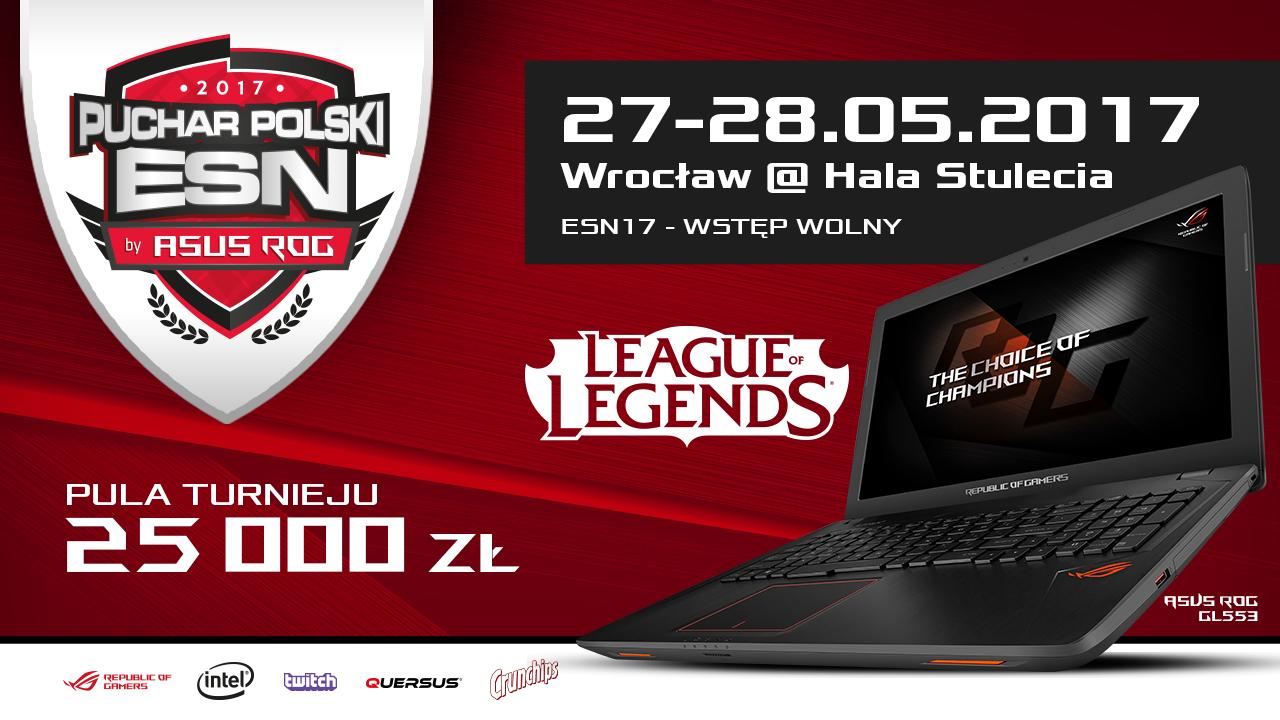 Puchar Polski ESN powered by ASUS ROG odbędzie się we Wrocławiu!