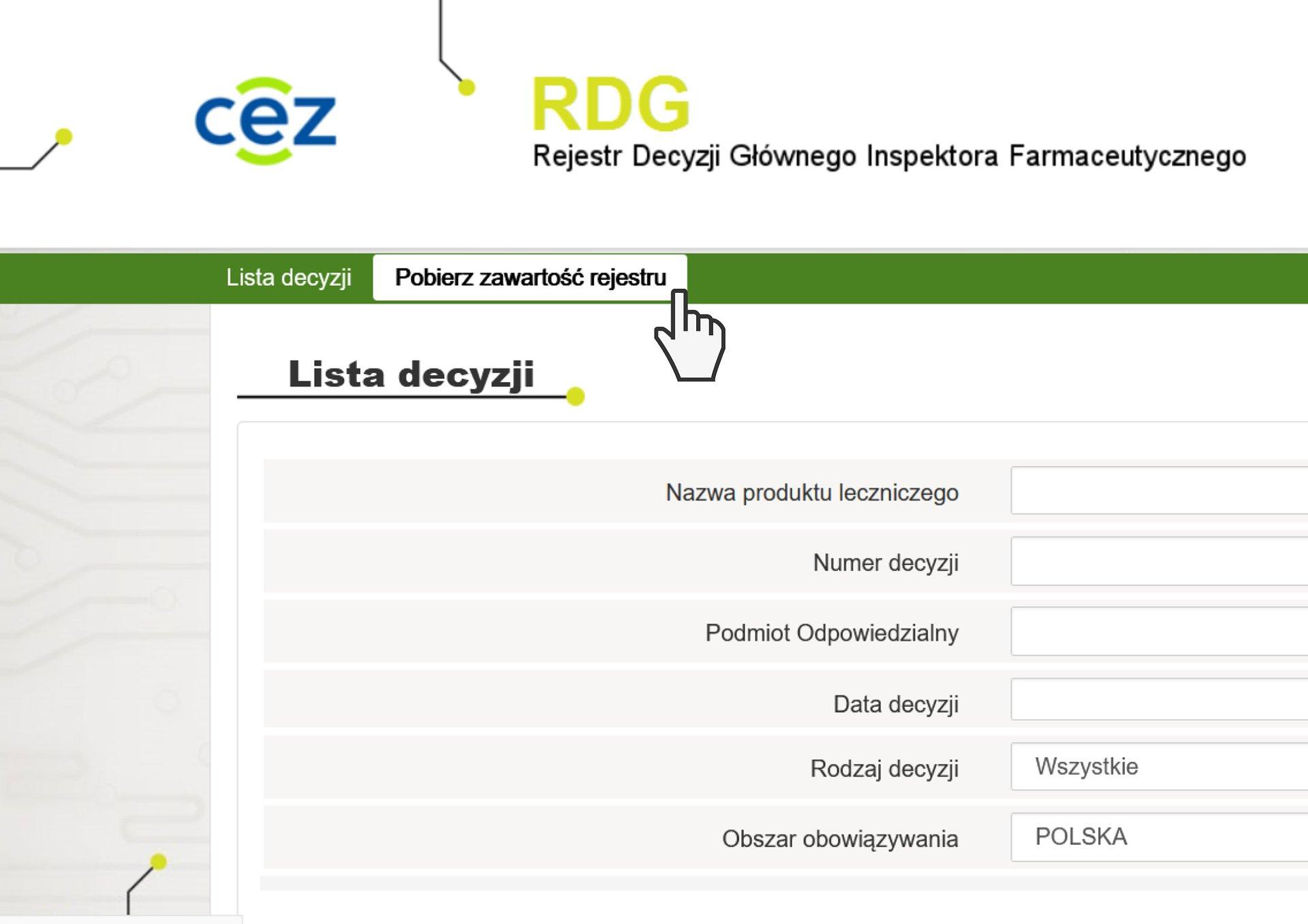 Centrum e-Zdrowia o rejestrze RDG