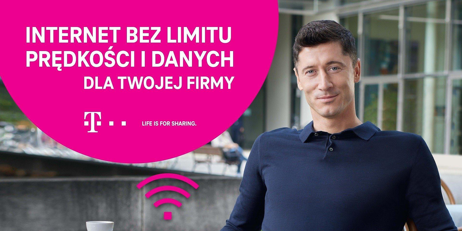 Prawdziwie nielimitowany Internet dla całej firmy w MagentaBIZNES od T-Mobile - Robert Lewandowski w kampanii promocyjnej skierowanej do firm