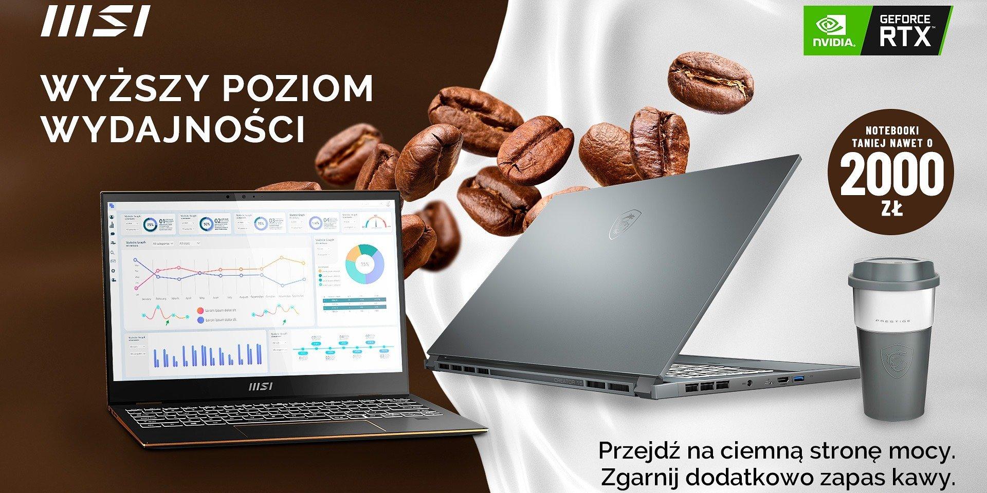 Zapewnij sobie zastrzyk wydajności – promocja na laptopy MSI z serii Modern, Prestige, Summit i Creator