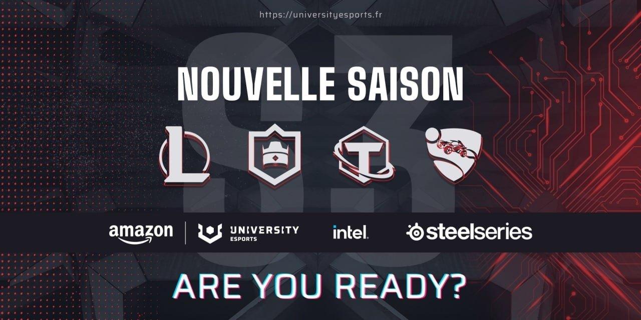 Les inscriptions pour le début de la 3ème saison d'Amazon UNIVERSITY Esports en France, qui verra la participation de plus de 100 universités, ont comencé