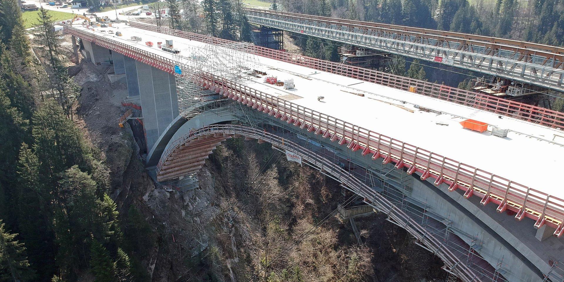 Odnowienie mostu Echelsbacher w Bawarii