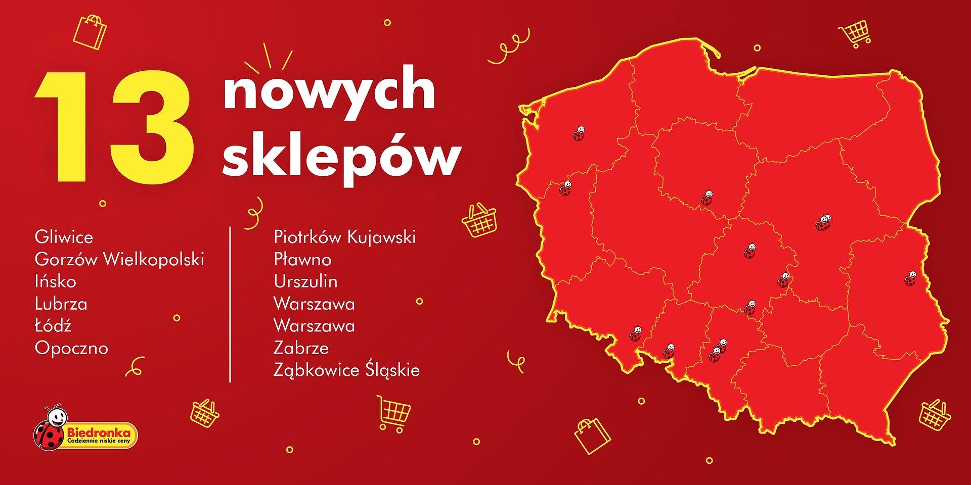 Jeszcze przed 1 listopada Biedronka otwiera ponad tuzin nowych sklepów