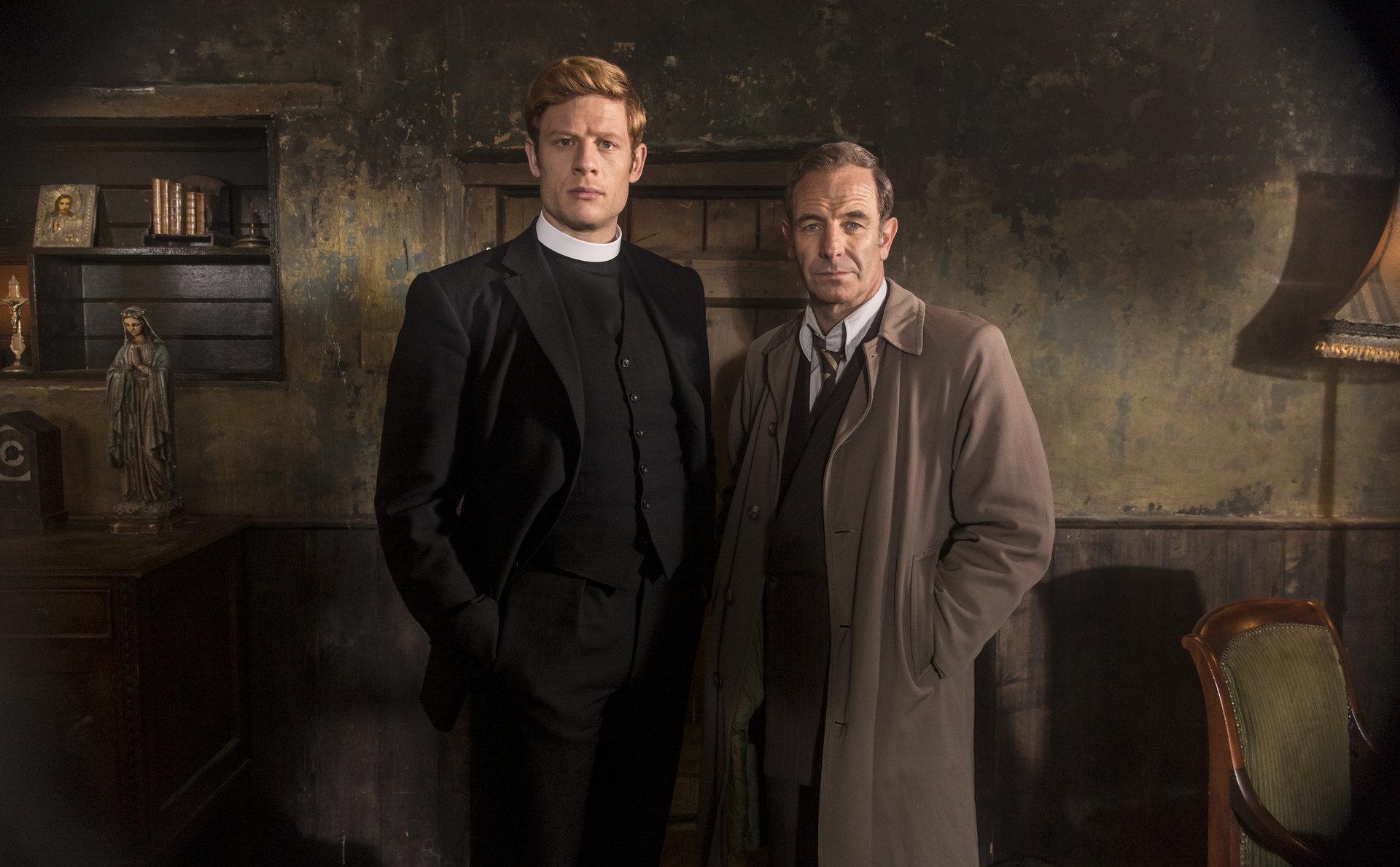 """Brytyjski detektyw w sutannie powraca. 3. sezon serialu """"Grantchester"""" tylko w Ale kino+."""