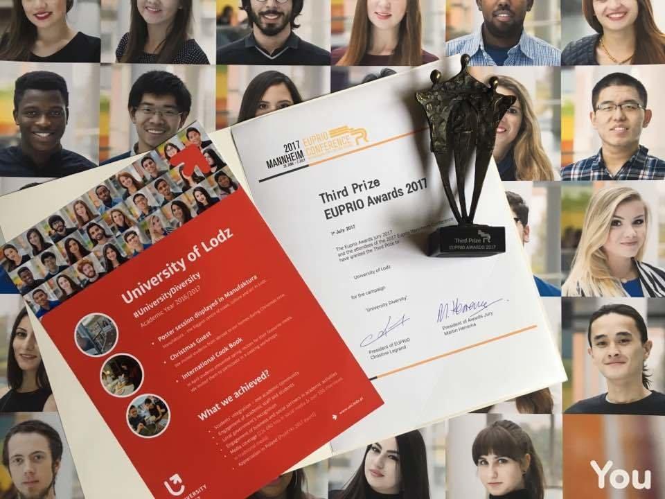 Europejskie uznanie dla Projektu University Diversity w konkursie The Euprio Awards 2017