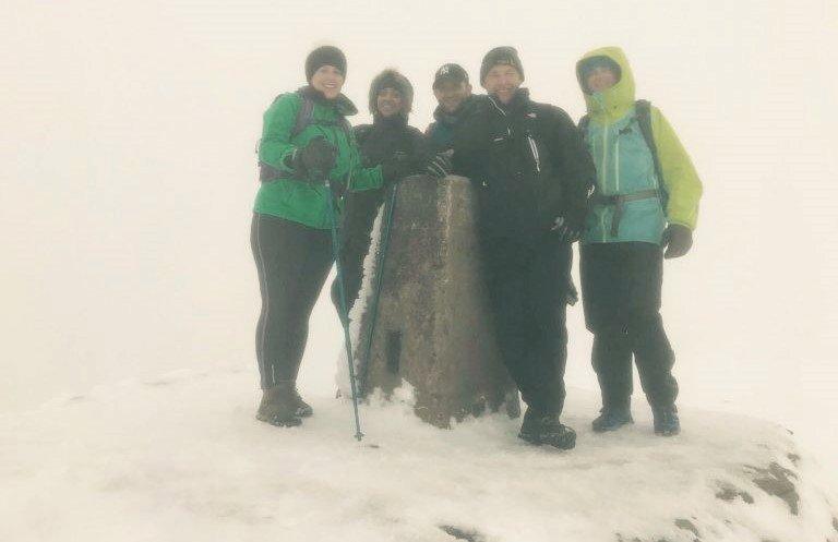 Team Erevena Successfully Complete Three Peaks Challenge