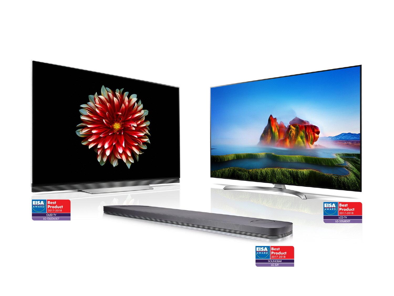 LG nagrodzone EISA AWARDS za najlepszy telewizor OLED 2017 - 2018