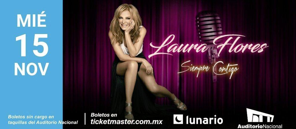Laura Flores se presentará en el Lunario del Auditorio Nacional con todos sus éxitos