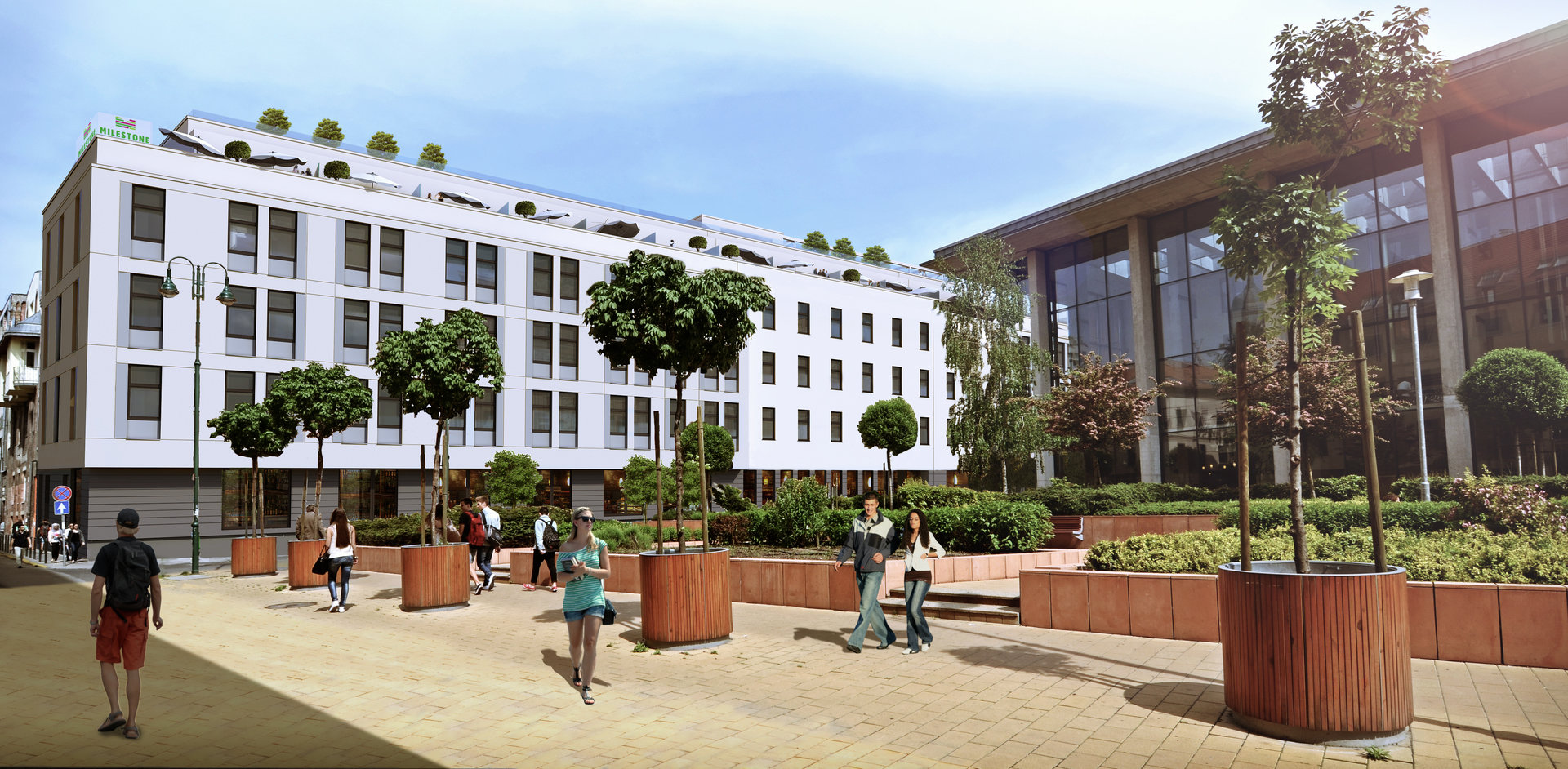 BNP Paribas Real Estate Hungary with a PM Instruction for milestone student house in Budapest