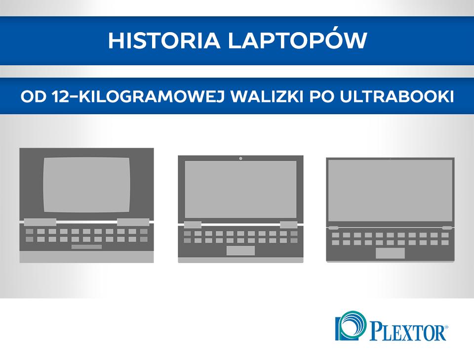 Historia laptopów - od 12-kilogramowej walizki po ultrabooki