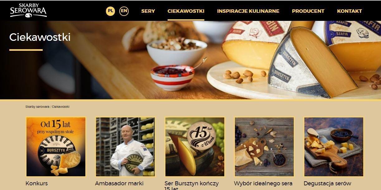 Nowa odsłona strony internetowej dla marki Skarby Serowara
