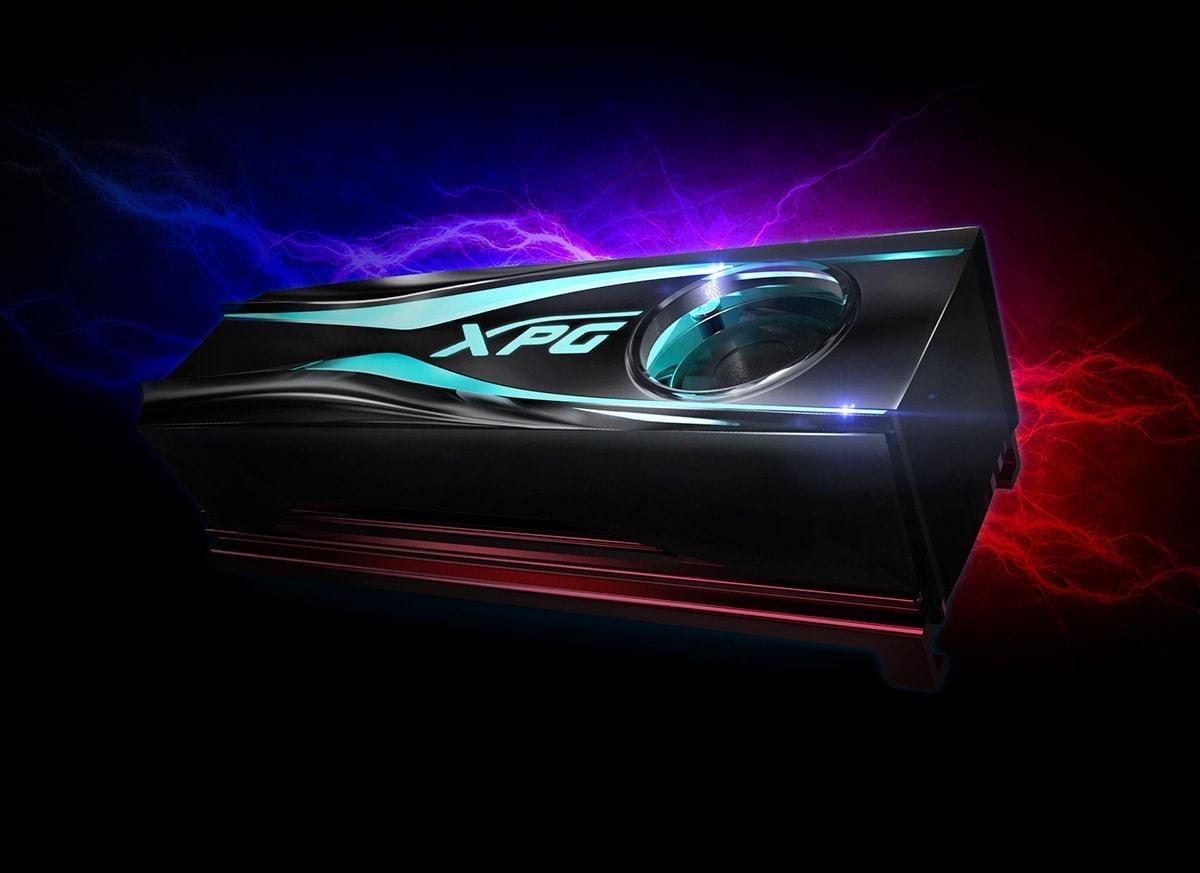 ADATA XPG STORM -  chłodzenie z podświetleniem RGB LED do dysków SSD M.2