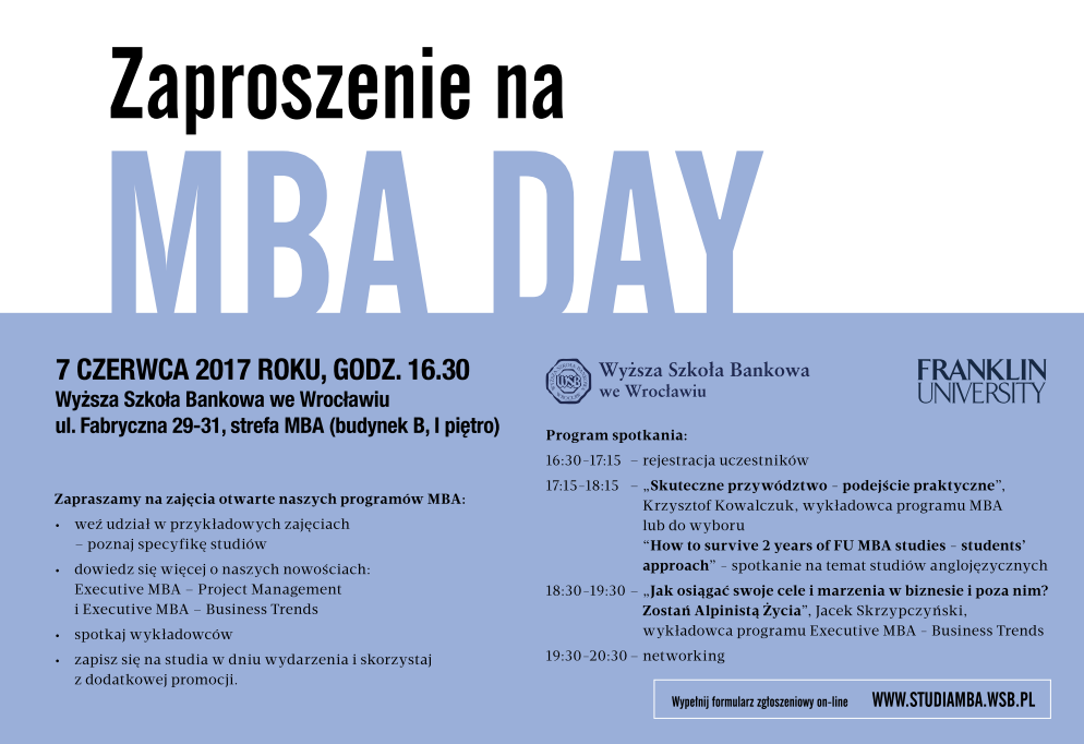 MBA Day już 7 czerwca
