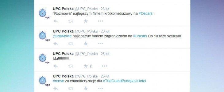 Oscary z UPC na Twitterze
