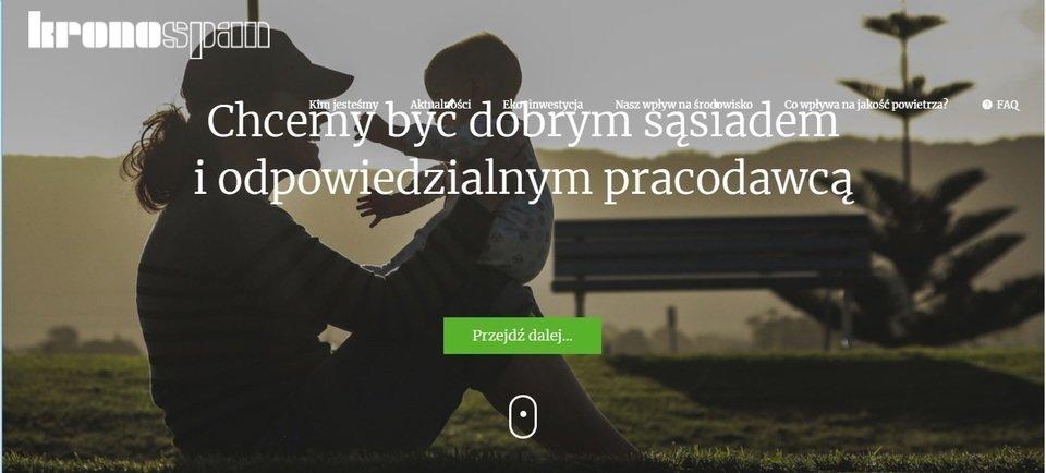 Nowa strona internetowa o eko-inwestycji Kronospan w Mielcu