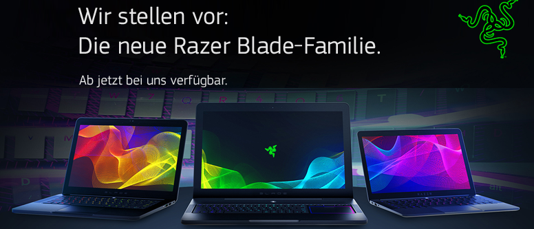 Ab sofort bei notebooksbilliger.de - Gaming-Notebooks von Razer