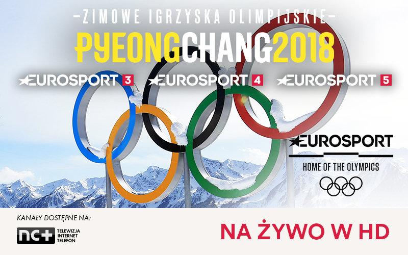 Trzy dodatkowe kanały Eurosport na czas Zimowych Igrzysk Olimpijskich PyeongChang 2018 w ofercie platformy nc+