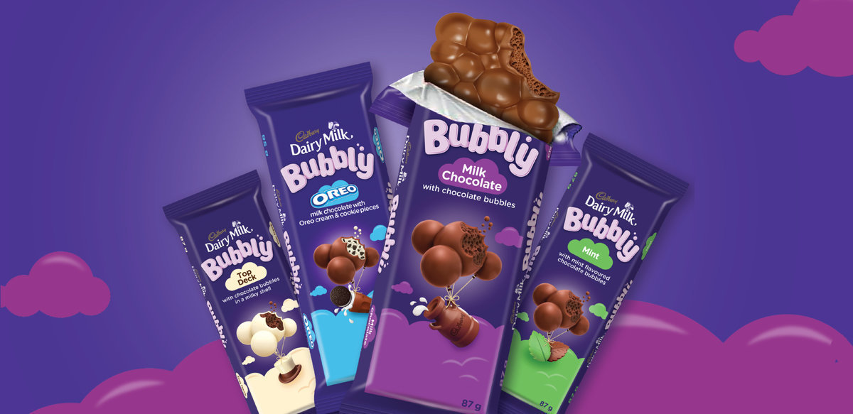 New Look and NEW ways to #GetBubblified with Cadbury Dairy Milk Bubbly