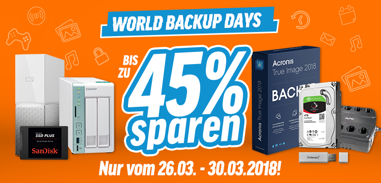 Feiern Sie den World Backup Day mit notebooksbilliger.de