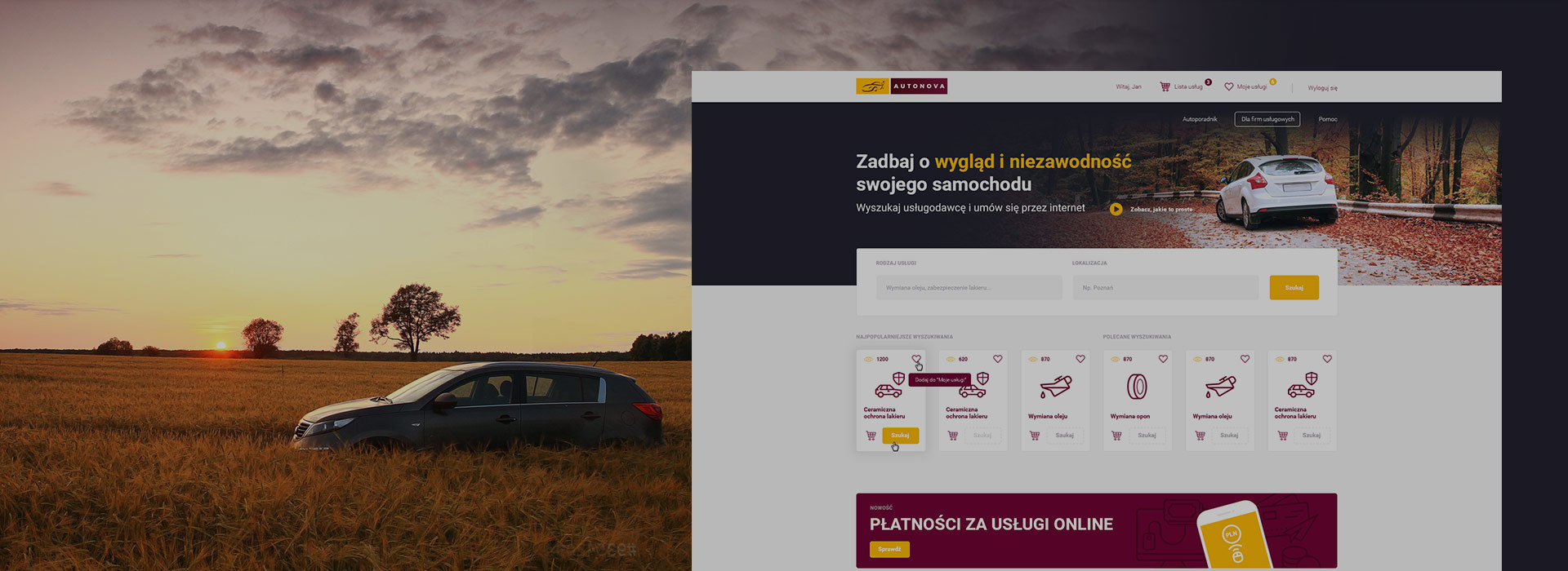 Autonova – search for services for your car