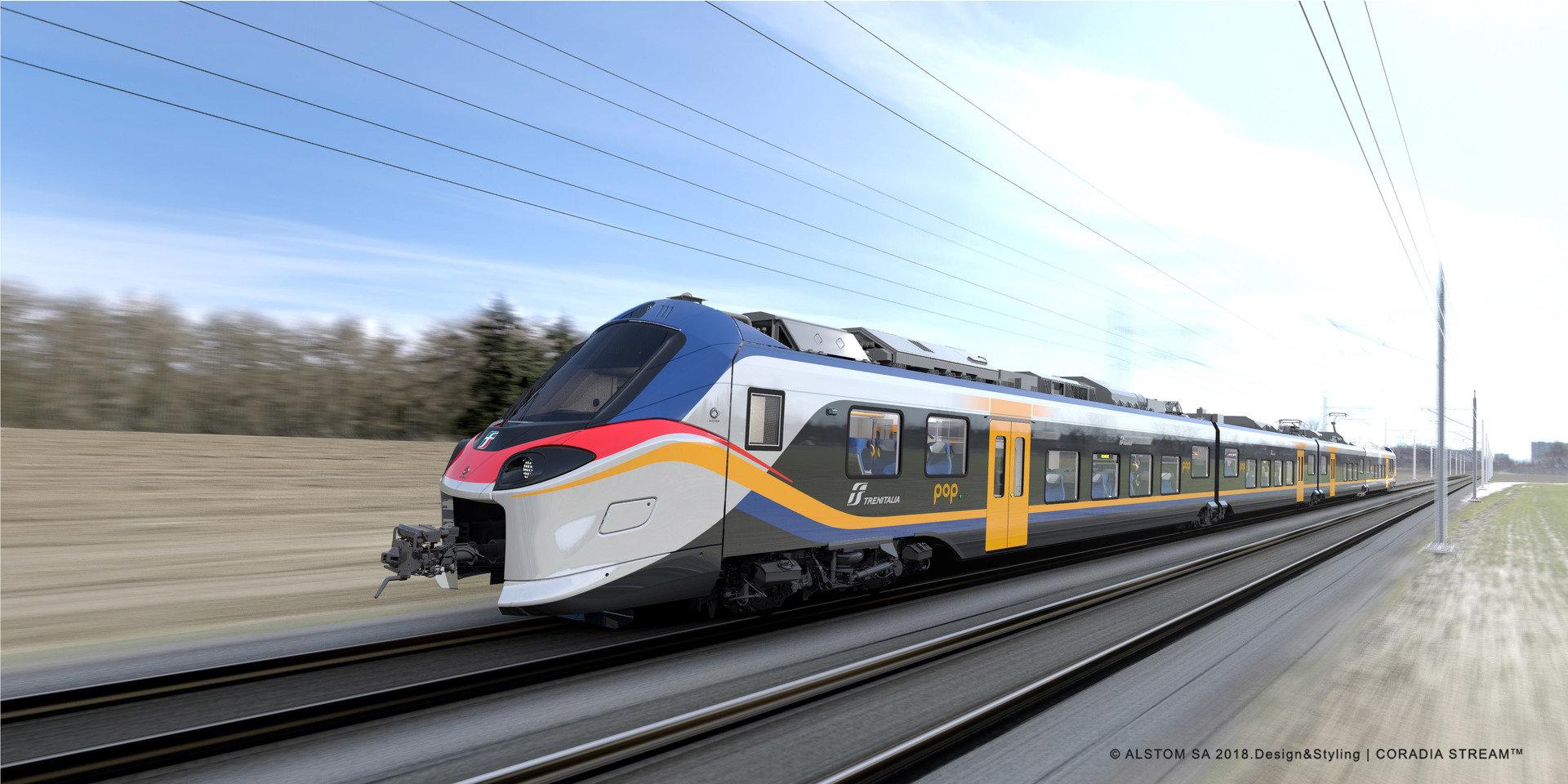 """Alstom dostarczy 54 dodatkowe pociągi regionalne Coradia Stream """"Pop"""" dla Trenitalia"""