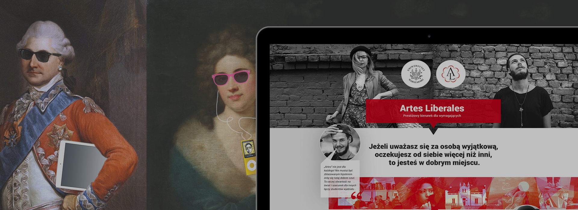 Kampania rekrutacyjna na wydziale Colegium Artes Liberales na Uniwersytecie Warszawskim.