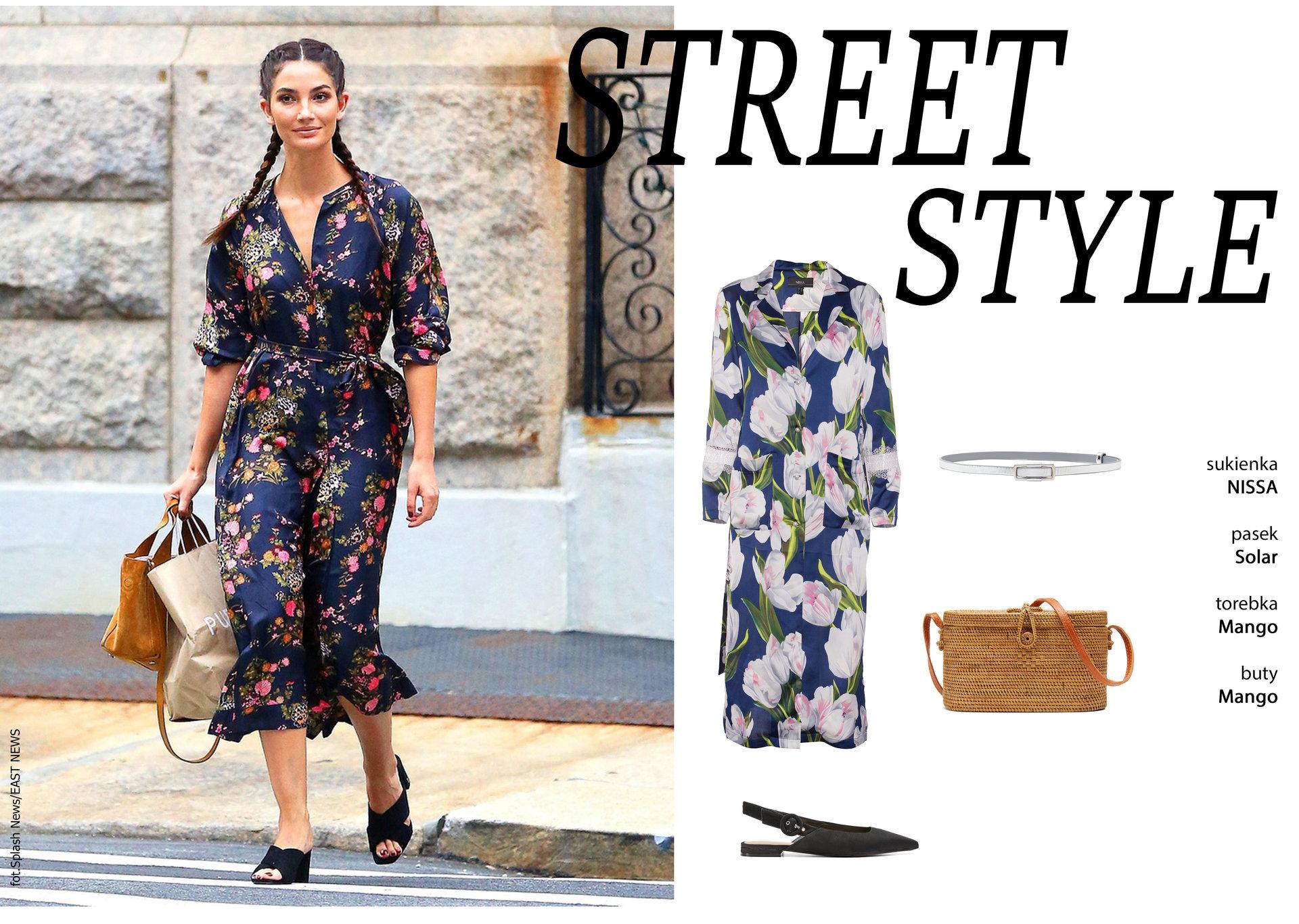 Street Style – trend: kwiaty