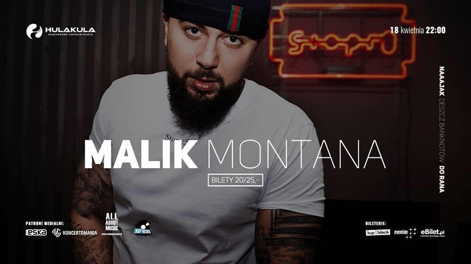 Raper Malik Montana w Hulakula – Rozrywkowym Centrum Miasta