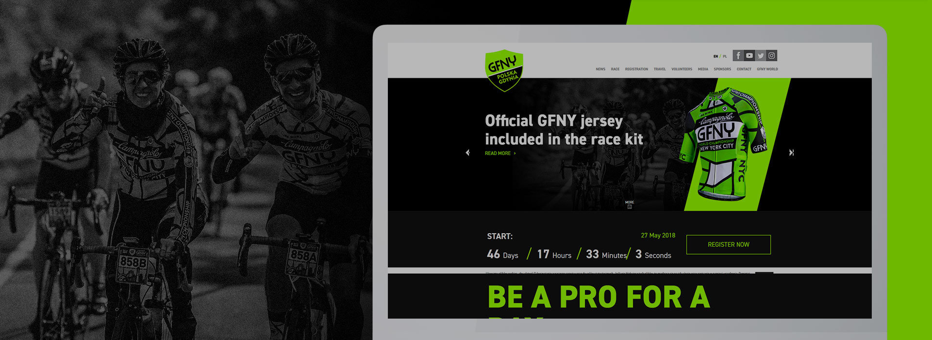 GFNY Poland - A prestigious cycling race in Gdynia.