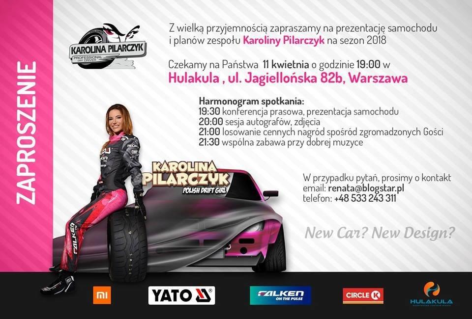 Hulakula Rozrywkowe Centrum Miasta i Karolina Pilarczyk – mistrzyni jazdy bokiem zapraszają na imprezę dla fanów motoryzacji