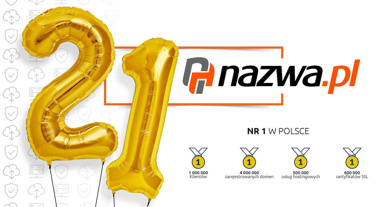 21 lat sukcesów nazwa.pl