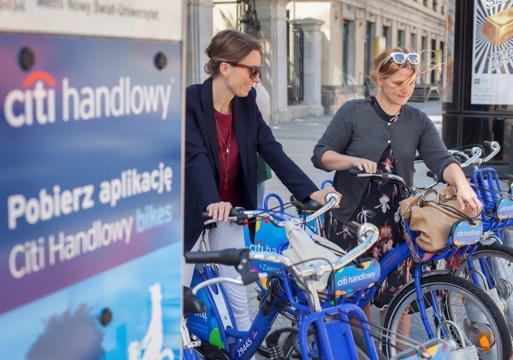 Citi Handlowy Bikes w aplikacji Jakdojade – teraz dowiesz się jak szybko dotrzeć do celu rowerem miejskim