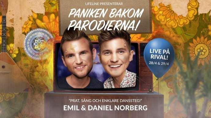 Succéduon Emil och Daniel Norberg gör liveshow på Rival i april!