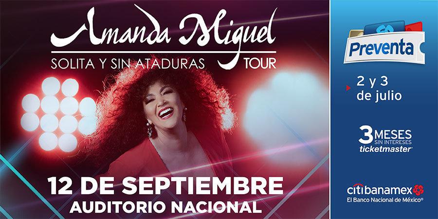 Amanda Miguel regresa al Auditorio Nacional