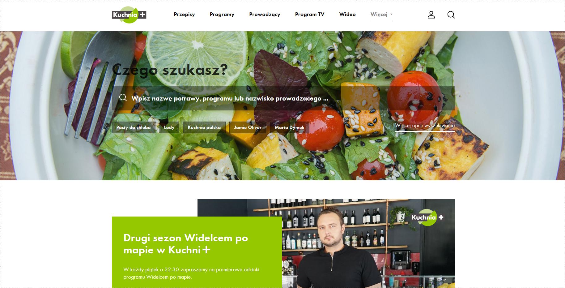 Kuchnia+ zmienia się w internecie