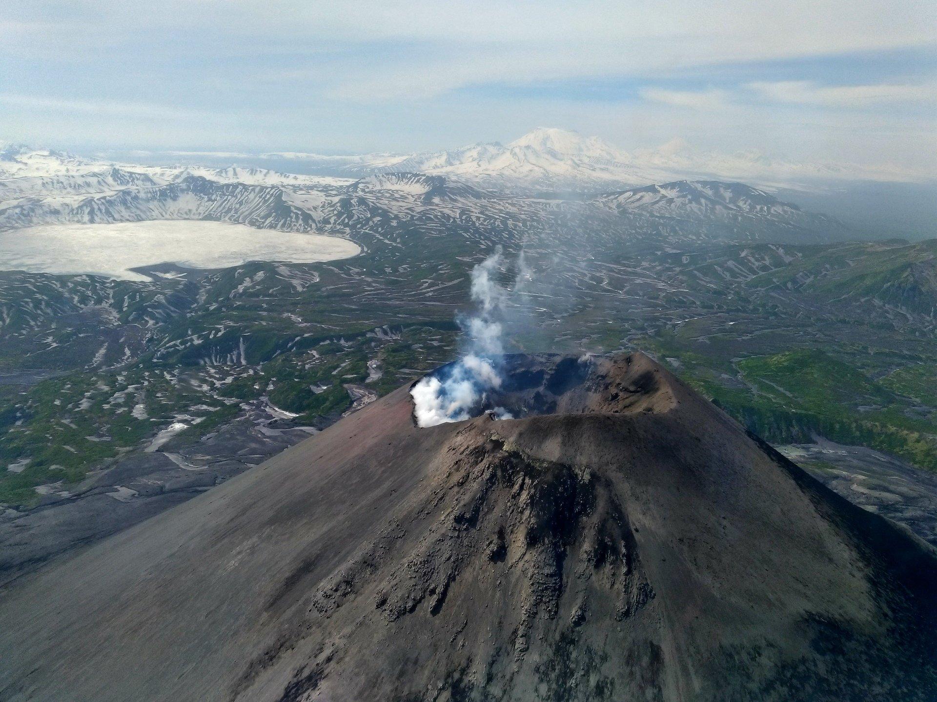 Kamczacka erupcja zdjęć