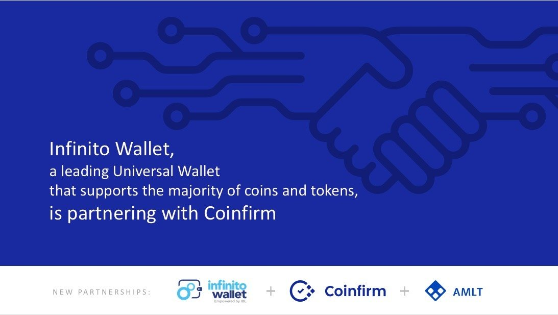 Leading Universal Wallet Infinito partners with Coinfirm and AMLT to bring Compliance and Security to Users