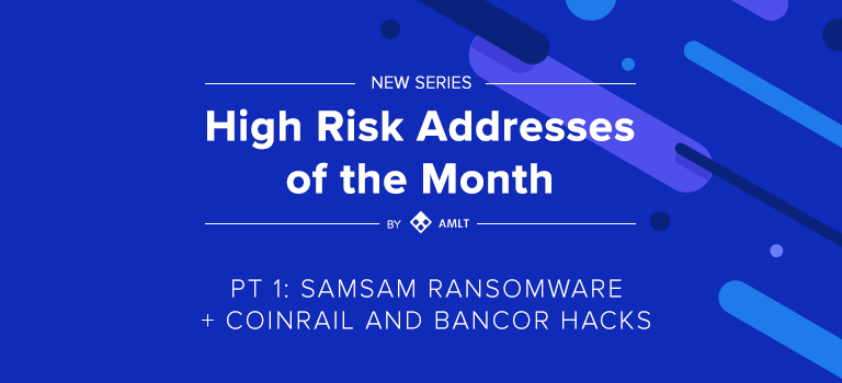 Welcome to the first part of the new monthly series by AMLT: High Risk Addresses of the Month.