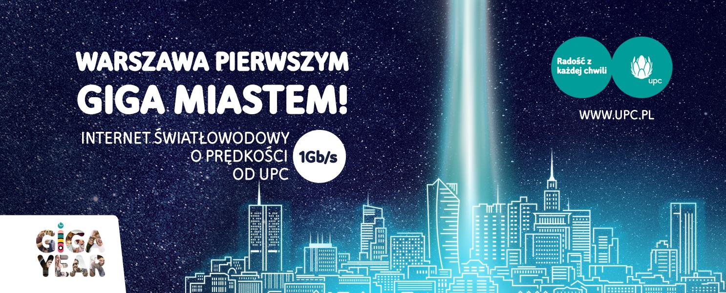 UPC przenosi prędkość polskiego internetu na jeszcze wyższy poziom i otwiera erę gigabitową, oferując jako pierwszy ogólnopolski operator internet o prędkości 1 Gb/s