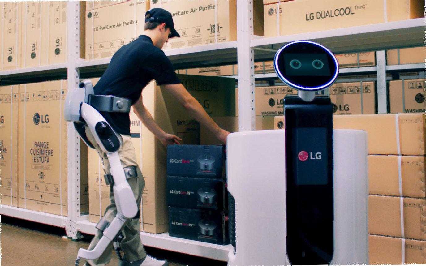 LG rozpoczyna nową epokę robotyki opartej o sztuczną inteligencją i prezentuje robota CLOi SuitBot