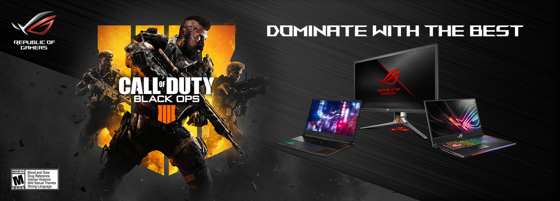 ASUS Republic of Gamers nawiązuję współpracę z Activision wokół gry Call of Duty®: Black Ops 4