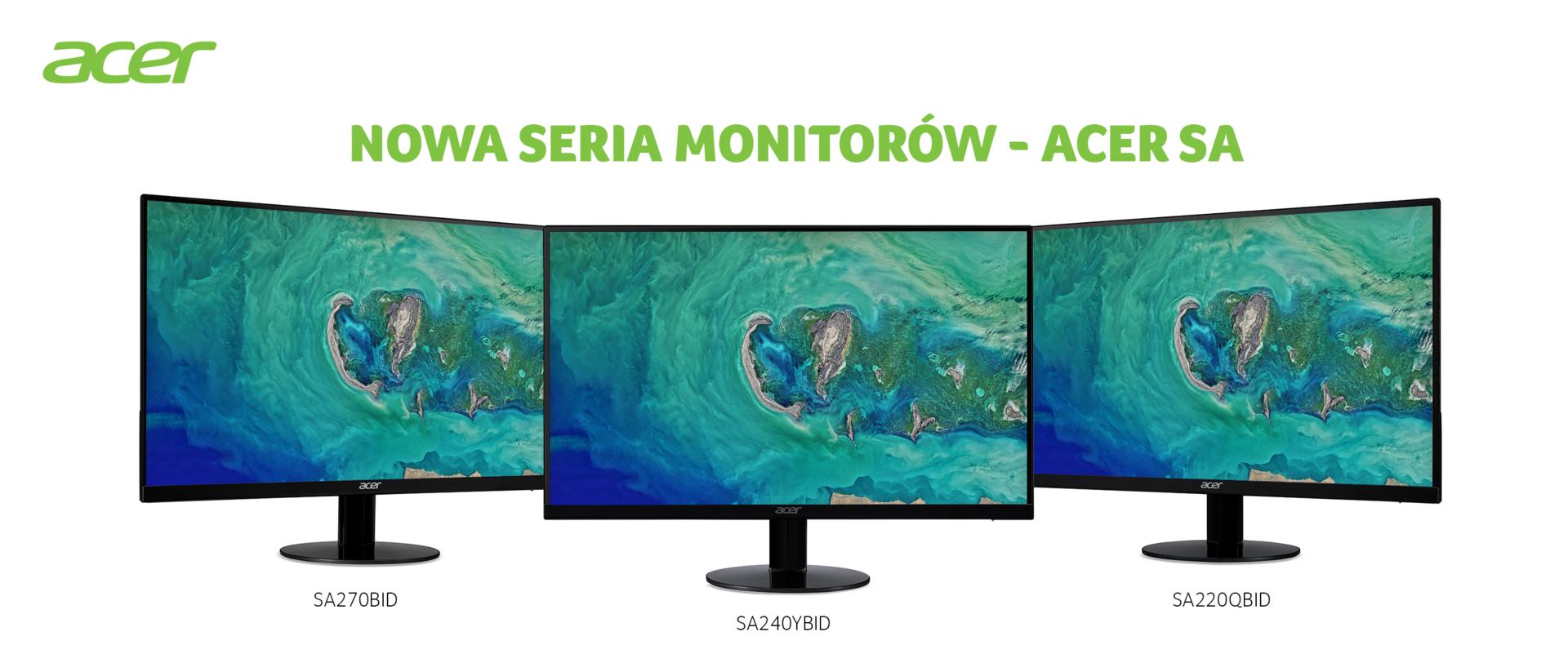 Acer prezentuje nowe ultrasmukłe monitory z serii SA