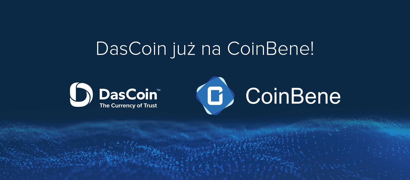 DasCoin debiutuje na CoinBene – jednej z największych giełd azjatyckich