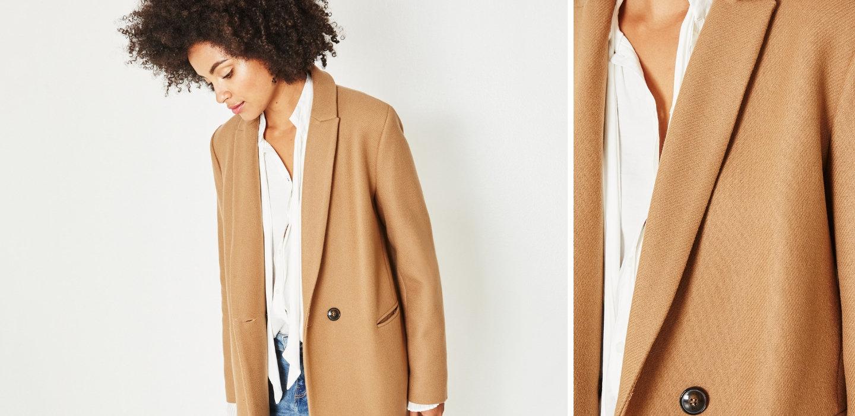 Niezbędnik jesienno-zimowej garderoby - płaszcz Gisèle by Promod
