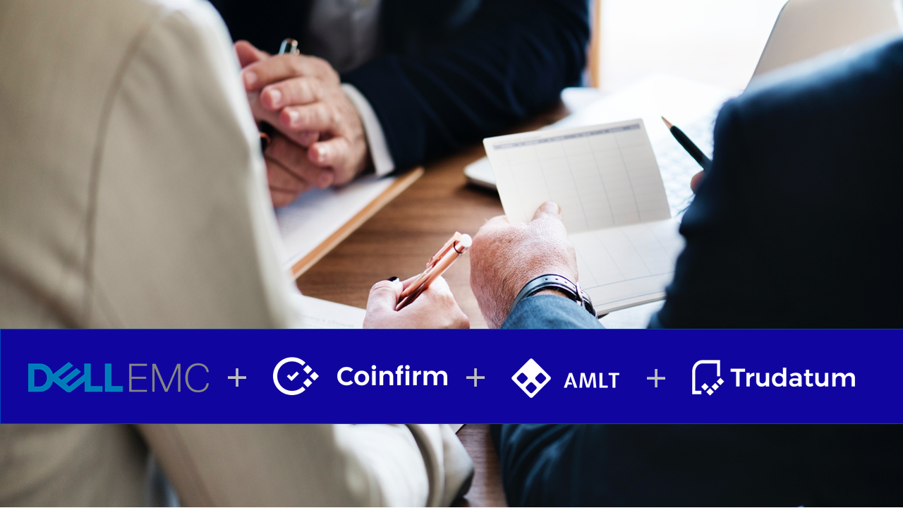 Coinfirm partners with Dell EMC on Trudatum delivery as part of the blockchain based durable medium offering