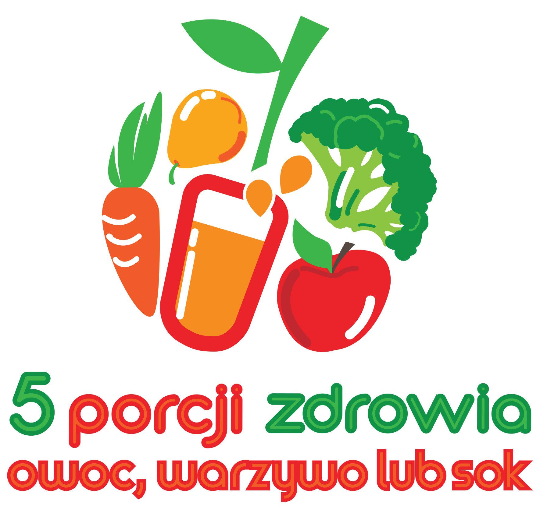 """Jak wykształcić prawidłowe nawyki żywieniowe? Odpowiedzi przyniesie startująca, już VIII, edycja kampanii edukacyjno-informacyjnej """"5 porcji warzyw, owoców lub soku""""."""