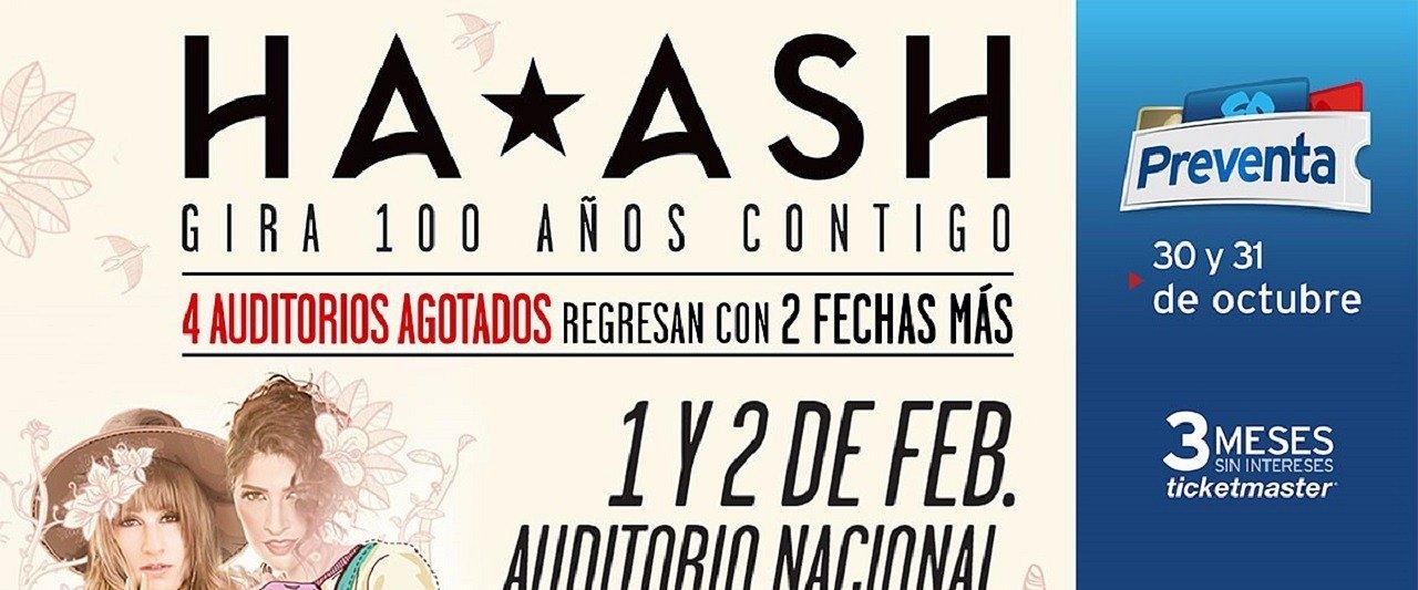 Ha*Ash anuncia nuevas fechas
