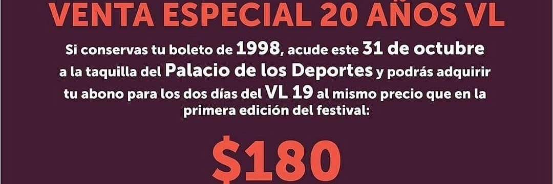 Venta Especial 20 Años Vive Latino